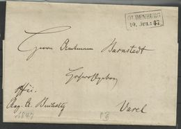 Ra2 Oldenburg 19. Juli 1847 Nach Varel (Amtmann Barnstedt) - [1] Voorlopers