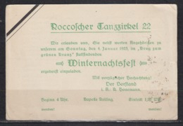 """Dt.Reich Halle/Saale 27.12.24 Seltene Einladungskarte """" Roccoscher Tanzzirkel 22 - Winternachstfest- """" EF 355 - Brieven En Documenten"""