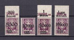 Danzig - Portomarken - 1923 - Michel Nr. 26/29 - Postfrisch/Ungebr. M. Falz - Danzig