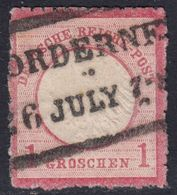 BRUSTSCHILD Nr. 4 Schöne Rauhe Zähnung Seltener Hannover-Ra2 NORDERNEY Geprüft Sommer BPP (bb20) - Gebruikt