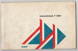Brochure-leaflet: DAF Trucks Eindhoven Instructieboekje DAF F-1600 - Camions