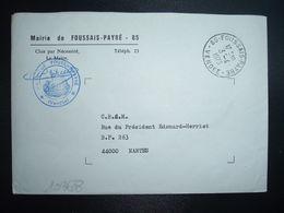 LETTRE MAIRIE OBL.3-4 1973 85 FOUSSAIS-PAYRE VENDEE - Marcophilie (Lettres)