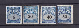Danzig - Portomarken - 1923 - Michel Nr. 30 + 32 + 34/35 - Ungebr. M. Falz/Postfrisch - Danzig