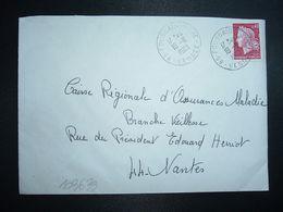 LETTRE TP M. DE CHEFFER 0,40 OBL.19-8 1969 85 FOUSSAIS-PAYRE VENDEE - Marcophilie (Lettres)