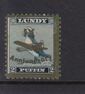 #40 Great Britain Lundy Island Puffin Stamps 1943 Ix Anniversary 2p  #49 Mint - Emissione Locali