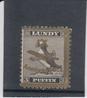 #41 Great Britain Lundy Island Puffin Stamps 1943 IX Anniversary Cat #50 Mint - Emissione Locali