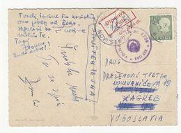 Yugoslavia Military Post Postmark On Postcard Malmö Posted 1964 To Novi Sad - Sticker Parti B200701 - 1945-1992 Repubblica Socialista Federale Di Jugoslavia