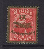 #42 Great Britain Lundy Island Puffin Stamp 1943 IX Anniversary 1/2p Broken Prop - Emissione Locali