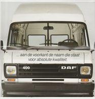 Brochure-leaflet: DAF Trucks Eindhoven DAF 400 - Trucks