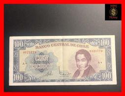 CHILE  100 Escudos 1962  P. 141 Sig.  Abud - Barcelo   AU - Chili