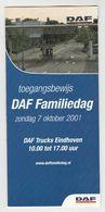 Brochure-leaflet: DAF Trucks Eindhoven DAF Familiedag 2001 - Camions