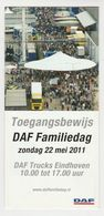 Brochure-leaflet: DAF Trucks Eindhoven DAF Familiedag 2011 - Camions