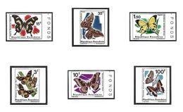 COB N° 138/143 Papillons II Non Dentelé Côte 30.00€ XX MNH - Rwanda