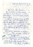 Lettre Manuscrite 1977 Loctudy Papa Maman Famille Villaz Billy - Manuscrits