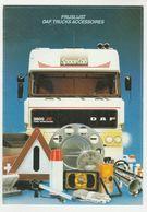 Brochure-leaflet: DAF Trucks Eindhoven DAF Trucks Accessoires 1987 - Camions