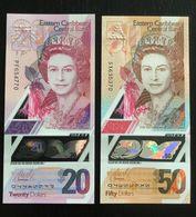 EAST CARIBBEAN STATES  SET 20 50 DOLLARS BANKNOTES (2019) UNC POLYMER - Ostkaribik