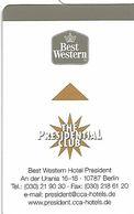 Hotel President Berlin - Hotelkarten