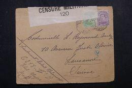 BELGIQUE - Enveloppe De L 'Etat Major A-B ( En Campagne ) Pour La Suisse En 1917 Avec Contrôle Postal -  L 64379 - Belgisch Leger