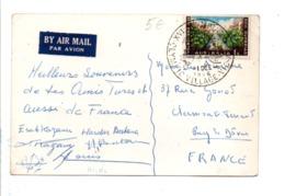 AUSTRALIE CARTE AVION DU VILLAGE OLYMPIQUE POUR LA FRANCE 1956 - 1952-65 Elizabeth II : Ed. Pré-décimales