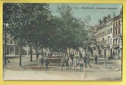 * Brussel - Bruxelles - Brussels * (Edition Grand Bazar Anspach, Nr 146 - COULEUR) Boulevard Baudoin, Animée, TOP - Bruxelles-ville