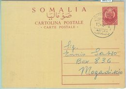 86171 - SOMALIA - Postal History  - STATIONERY CARD Used After VALIDITY! 1974 - Somalia (1960-...)