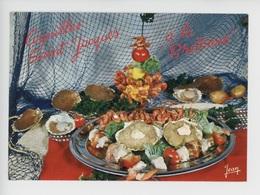 Coquilles Saint Jacques à La Bretonne (cp Vierge N°23/465 Jean) Crevettes Fruits De Mer Coquillages - Ricette Di Cucina