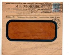 BELGIQUE LETTRE A EN TETE D'HOTEL DE LIEGE POUR LA SUISSE 1927 - Belgio