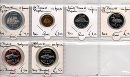 SAINT PIERRE ET MIQUELON  UNC SET 6 PCS 2013 -  5, 10, 50,100,200,500 FRANCS WITH BIMETAL ESSAI SEVERAL TOPICS - Münzen