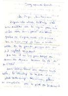 Lettre Manuscrite Jouy Papa Maman Famille Strasbourg Villaz Bardy Loctudy - Manuscrits