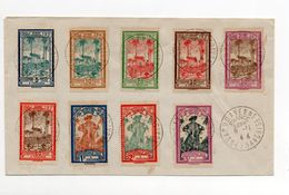 !!! GUYANE, SERIE TAXES N°13/21 OBLIT CAYENNE FRANCE LIBRE SUR LETTRE NON VOYAGEE - French Guiana (1886-1949)