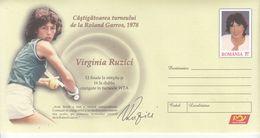 ROMANIA 2020: TENNIS - ROLAND GARROS WINNER IN 1978 Unused Prepaid Cover - Registered Shipping! - Tennis