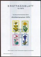 Berlin - 1975 ETB 10/1975 - Mi 510 / 513 - Alpenblumen, Wohlfahrtsmarken 75 - FDC: Hojas
