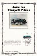 Feuillet Tirage Limité 400 Exemplaires 2173 Locomotive Train SNCB Transports Publics - Velletjes