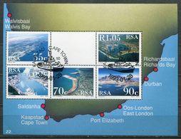 Südafrika South Africa Mi# Block 31 Gestempelt(FDC/SST)/used/CTO - Harbours - Afrique Du Sud (1961-...)