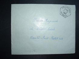 LETTRE OBL. HEXAGONALE Tiretée 4-7 1966 FROIDFOND VENDEE (85) - Marcophilie (Lettres)