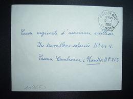 LETTRE OBL. HEXAGONALE Tiretée 12-4 1966 FROIDFOND VENDEE (85) - Marcophilie (Lettres)