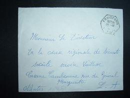 LETTRE OBL. HEXAGONALE Tiretée 13-10 1965 FROIDFOND VENDEE (85) - Marcophilie (Lettres)