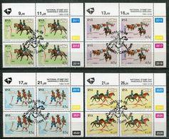 Südafrika South Africa Mi# 908-11 Control-blocks Gestempelt(FDC/SST)/used/CTO - Postal Service, Horses - Afrique Du Sud (1961-...)