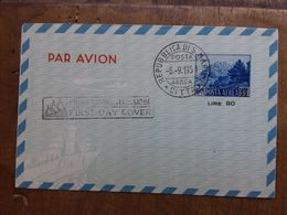 SAN MARINO 1951 - Aerogramma Annullo 1° Giorno + Spese Postali - Luftpost
