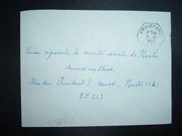 LETTRE OBL. HEXAGONALE Tiretée 21-6 1966 FROIDFOND VENDEE (85) - Marcophilie (Lettres)