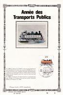 Feuillet Tirage Limité 400 Exemplaires 2172 Train Locomotive SNCB Transports Publics Namur - Velletjes