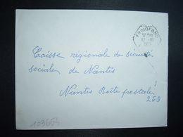 LETTRE OBL. HEXAGONALE Tiretée 12-10 1965 FROIDFOND VENDEE (85) - Marcophilie (Lettres)
