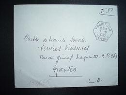 LETTRE OBL. HEXAGONALE Tiretée 7-9 1965 FROIDFOND VENDEE (85) - Marcophilie (Lettres)