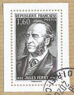 2018 - Trésors De La Philatélie - Issu Du BS 44 - Jules Ferry (noir) - Oblitéré Cachet Rond Sur Fragment - France