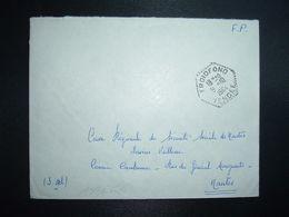 LETTRE OBL. HEXAGONALE Tiretée 9-10 1964 FROIDFOND VENDEE (85) - Marcophilie (Lettres)