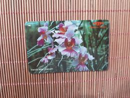 Phonecard Sigapore Flowers 14 SIGA USED - Singapour