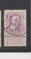 COB 80 Oblitération Centrale LIEGE 1L - 1905 Thick Beard