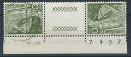 RR-/-313- Tête-bêche  Avec Pont, N° 483b,  BELLE Obl., Avec DATE 19/01/52 & N° FEUILLE,   Cote 2.00 €   , Je Liquide - Tete Beche