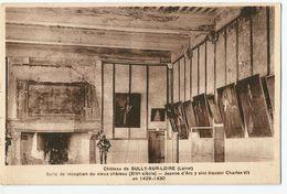 CPA [45] Loiret > Sully Sur Loire - Salle De Réception Du Vieux Châteaux - Jeanne D'arc Y Vint Trouver Charles VII - Sully Sur Loire