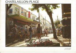 CPM, D.17, N°3053, Chatelaillon Plage ,Rue Du Marché , Ed. Pierron ,1997 - Châtelaillon-Plage